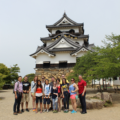 In front of Hikone Castle